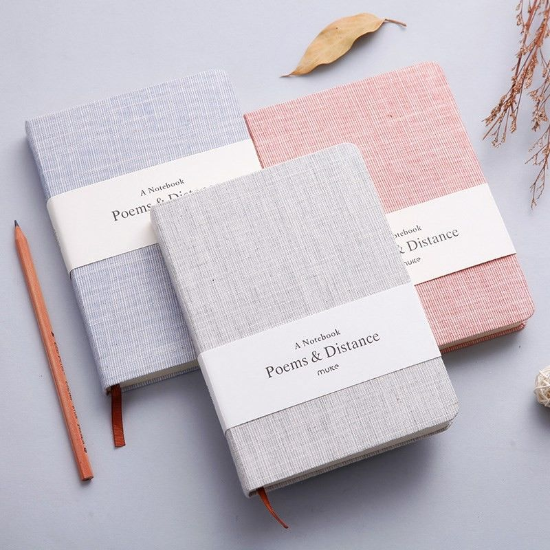 Exquisite Linen Cover Journal , Hard Cover Notebook With Blank / Lined Paper 128 Sheets