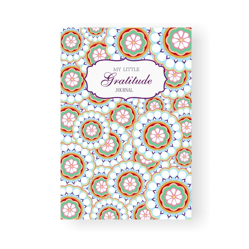 Cultivate Attitude Gratitude Journal Book , Floral Pattern Custom Made Notebooks